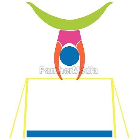sport icon design for gymnastics on