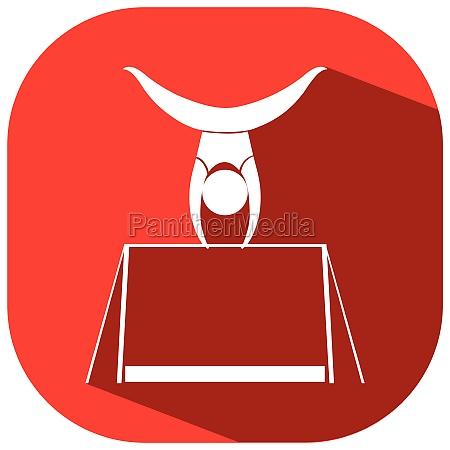 icon design for gymnastics with bar