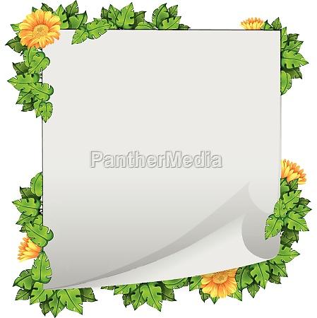 flower, and, leaf, border, frame - 30313657