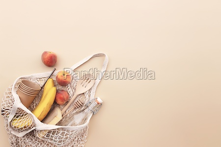 eco friendly summer concept on beige