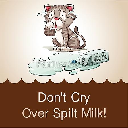 dont cry over spilt milk