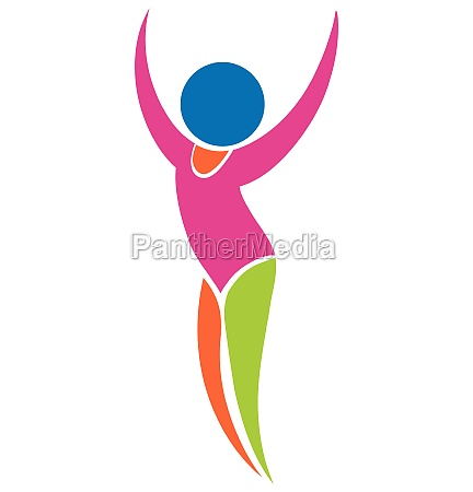 sport icon for gymnastics floor exercise