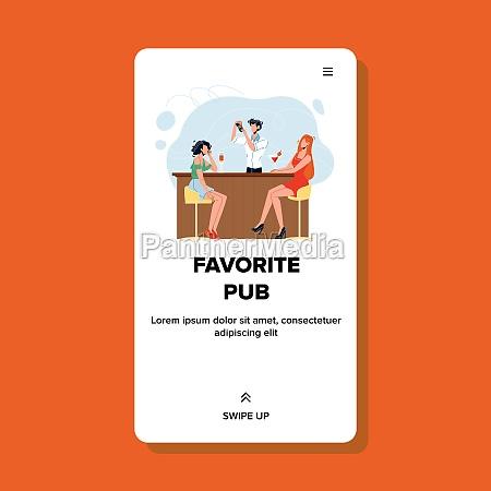 favorite pub for drink delicious cocktails