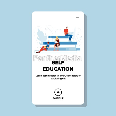 self education people distance learning vector