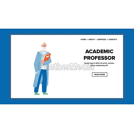 academic professor holding book for lecture