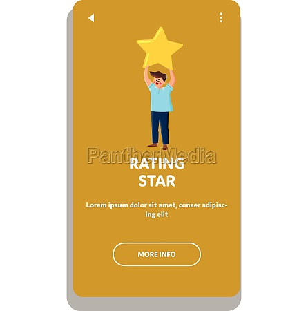 rating star client after successful service