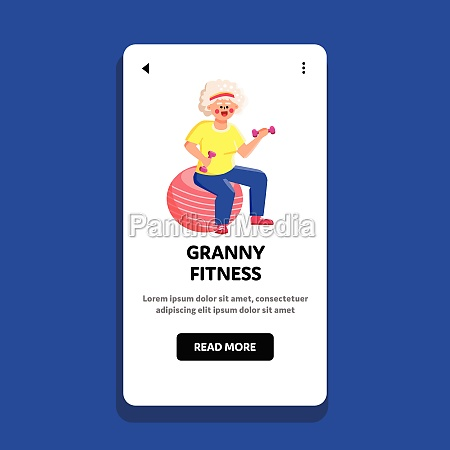 granny fitness exercise doing on fit