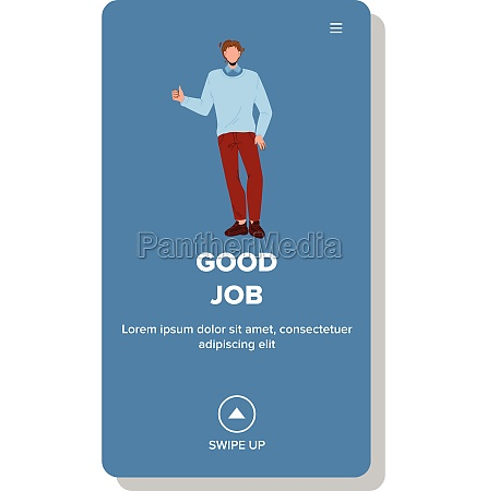 good job thumb up gesturing businessman