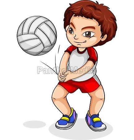 an asian volleyball player