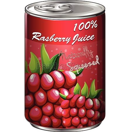 raspberry juice in aluminum can