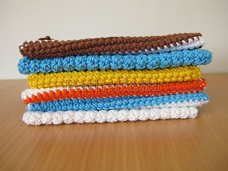reusable and washable crocheted and knitted