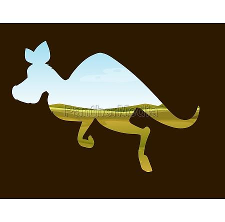 save wildlife theme with kangaroo