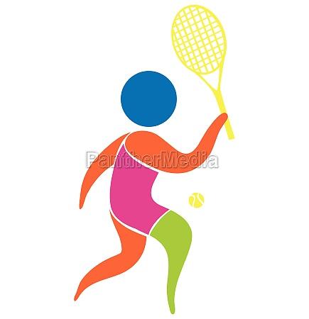 tennis icon on white background