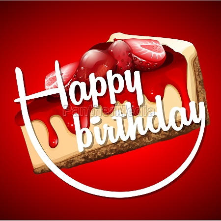 happy birthday card template with cheesecake