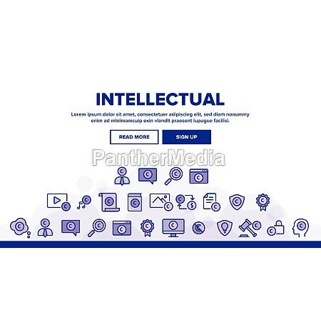 intellectual property landing header vector