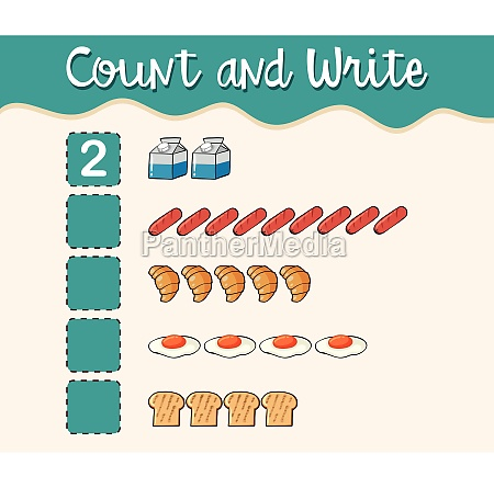 count and write with different types