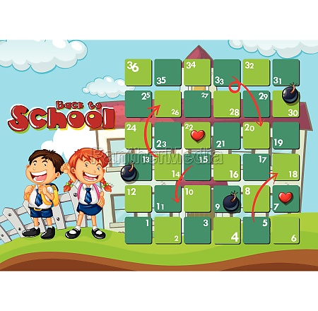 back to school board game template