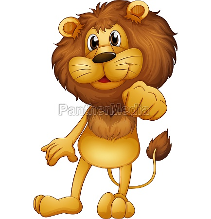 a lion standing