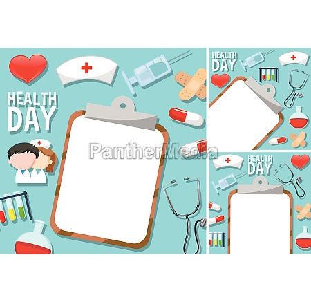 health day poster with medical elements