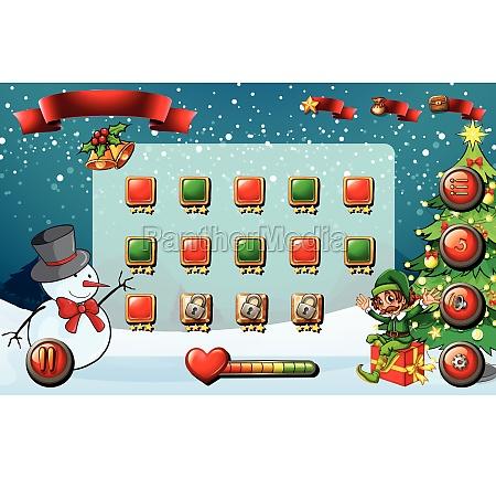 game template with christmas theme