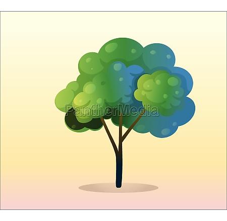 a big green tree