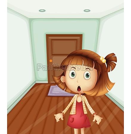 girl inside a house