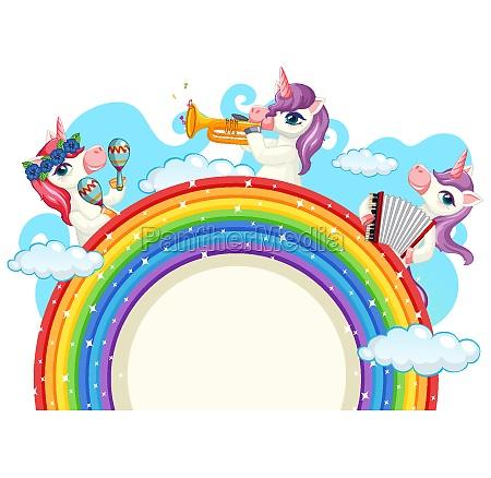 cute unicorn musical band