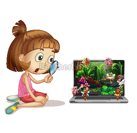 fairy tale on computer screen