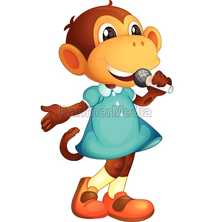 a monkey singer character