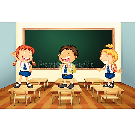 students and classroom