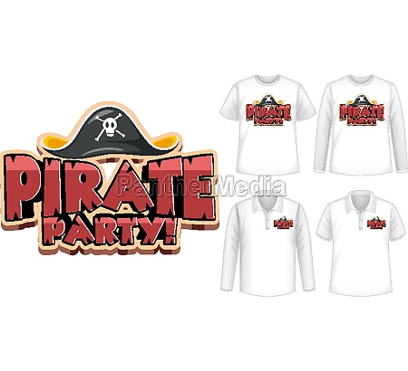 mock up shirt with pirate party