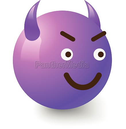 diabolic smiley icon cartoon style