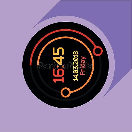 digital countdown timer icon flat style