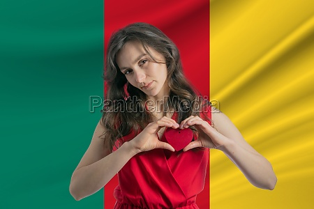 love cameroon a girl holds a