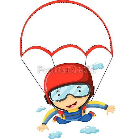 person doing sky diving in the