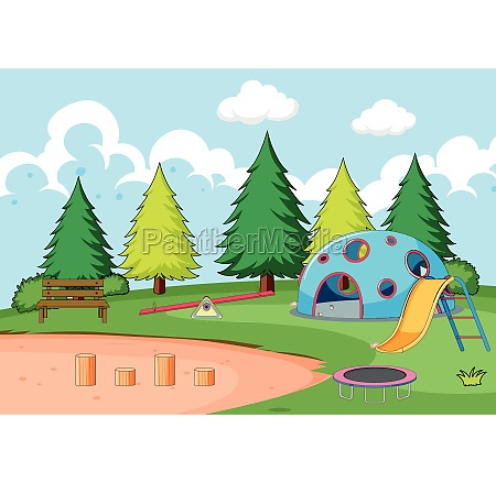 playground equipment in park