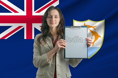 study in anguilla beautiful woman holding