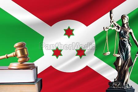 law and justice in burundi statue