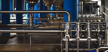 stainless steel pipes in the factory