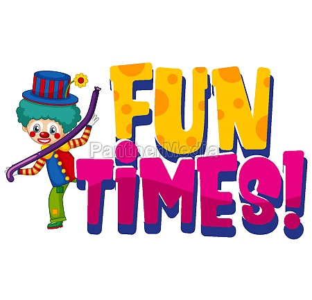 font design for word fun times