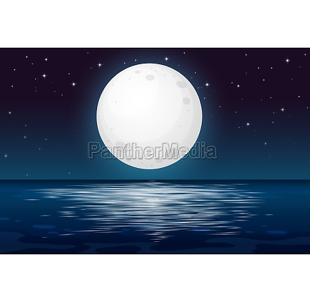a full moon night at the