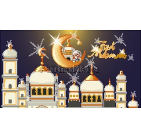 background design for muslim festival eid