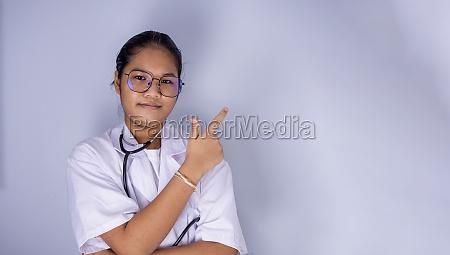 portrait of a female doctor wearing