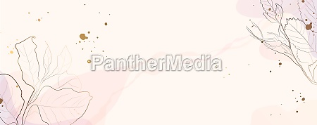 minimal background in pink flowers and