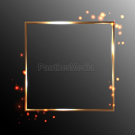 gold square frame and flares of