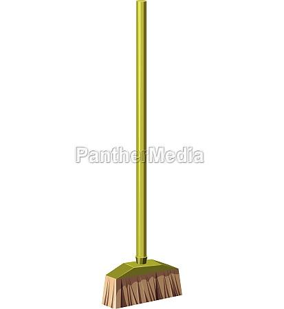 brush for a floor icon cartoon