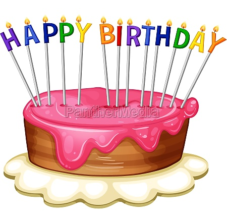 happy birthday card template with pink