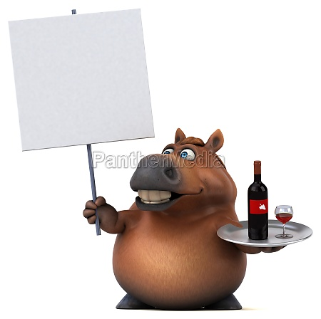 fun horse 3d illustration