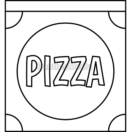 pizza box icon outline style