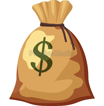 money bag with dollar sign icon